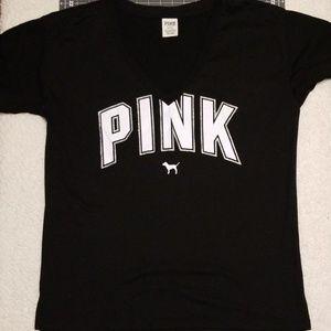Pink vneck